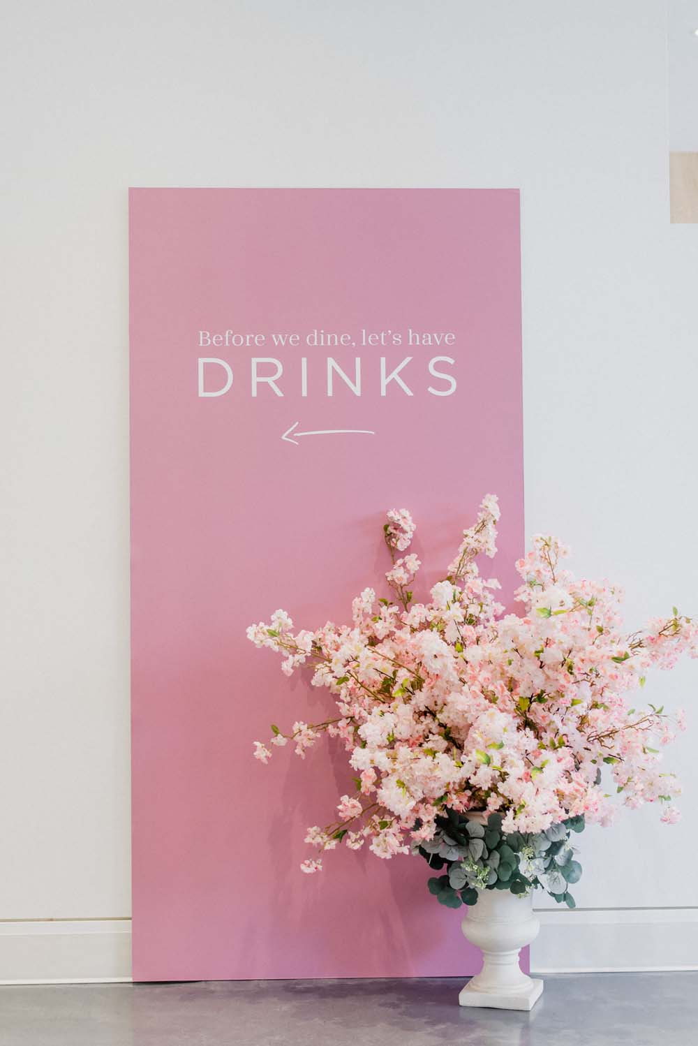 A Colourful Pink & Mauve Styled Shoot At The Art Gallery of Hamilton - signage