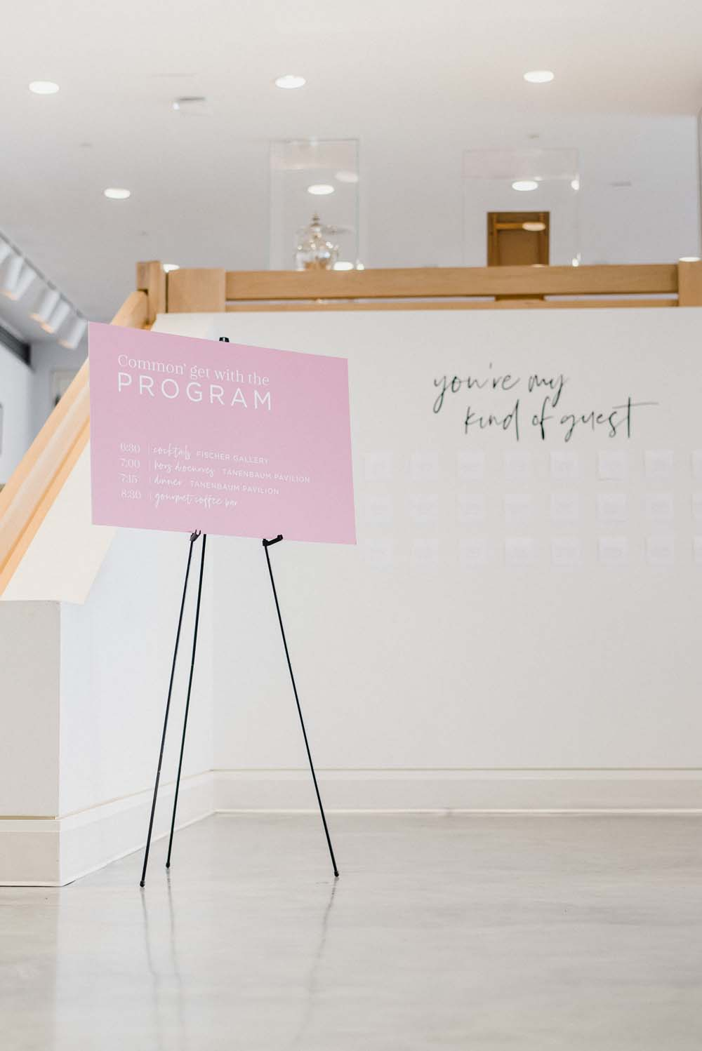 A Colourful Pink & Mauve Styled Shoot At The Art Gallery of Hamilton - entrance