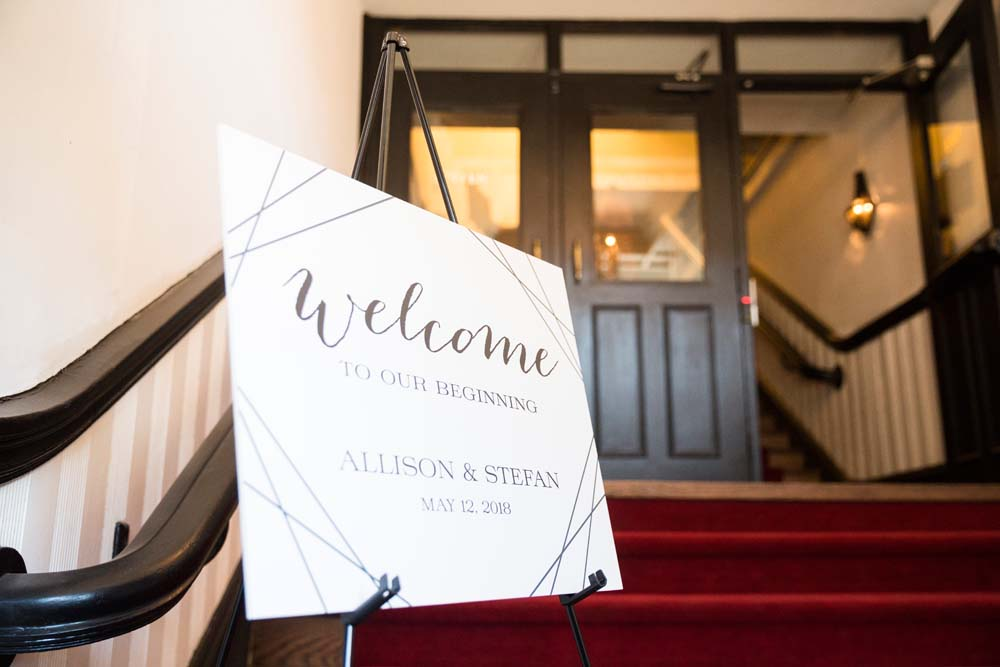 A Modern Wedding At The Great Hall In Toronto - sign