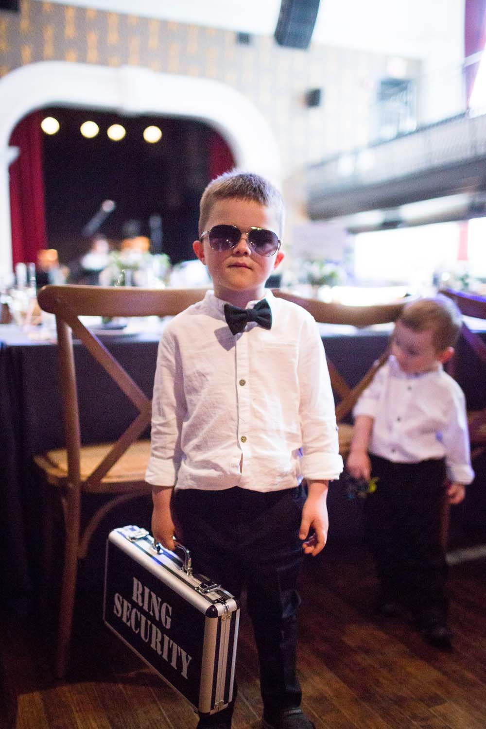 A Modern Wedding At The Great Hall In Toronto - ring bearer