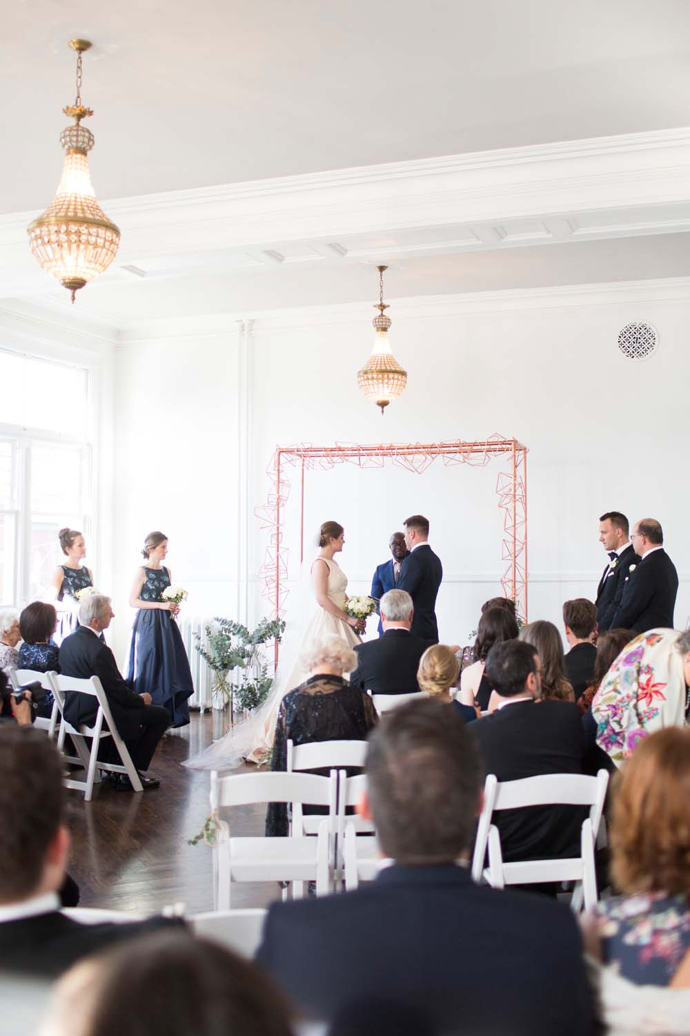 A Modern Wedding At The Great Hall In Toronto - arch