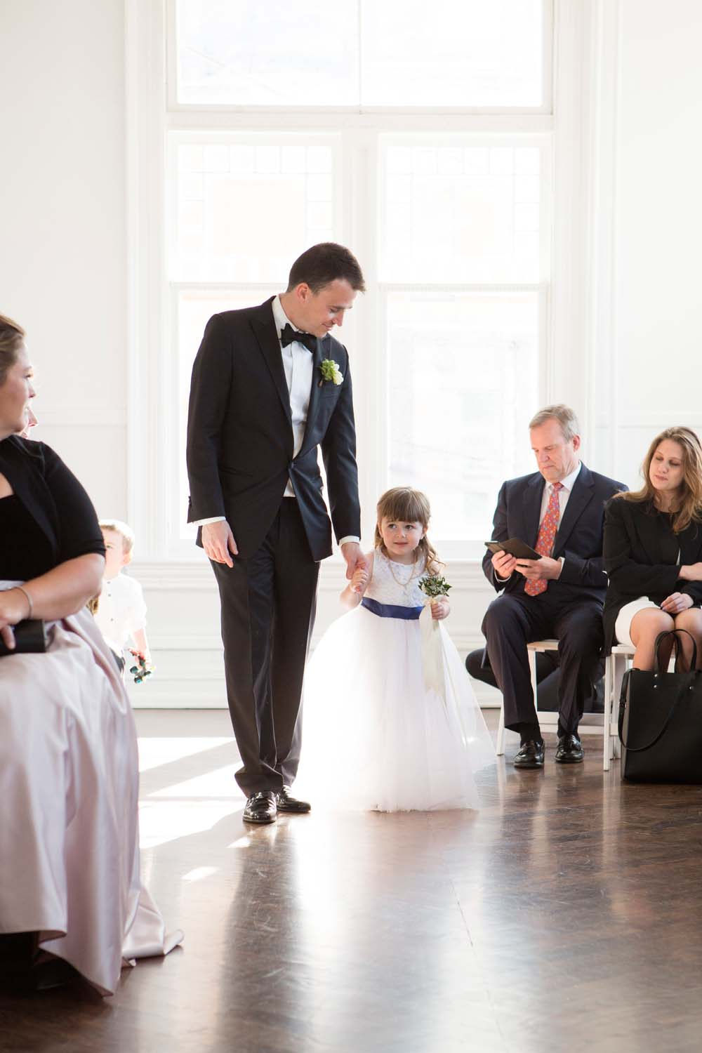 A Modern Wedding At The Great Hall In Toronto - flower girl