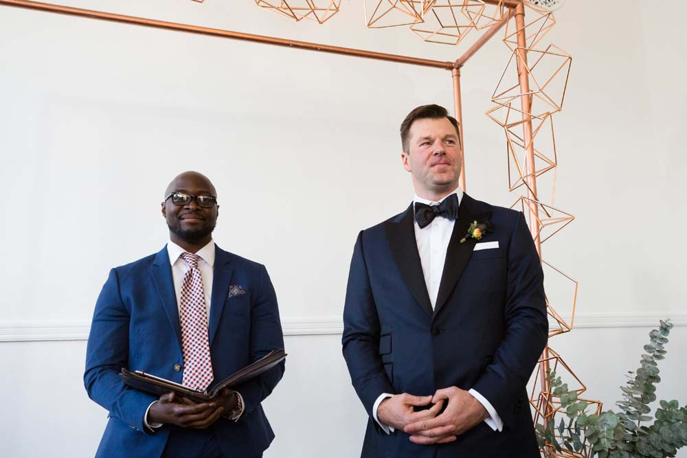 A Modern Wedding At The Great Hall In Toronto - groom