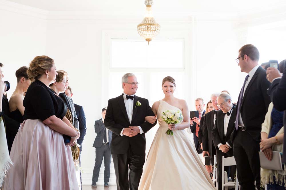A Modern Wedding At The Great Hall In Toronto - aisle