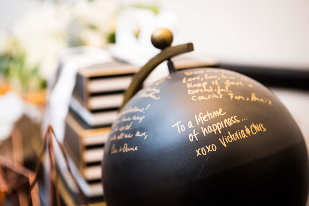 A Modern Wedding At The Great Hall In Toronto - globe