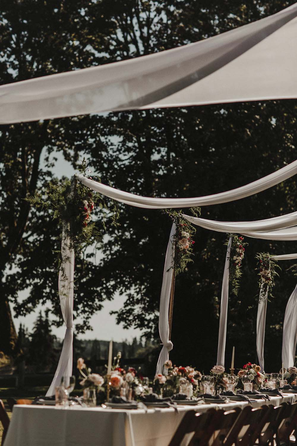 A Romantic and Ethereal Celebration in Fort Langley, BC - table