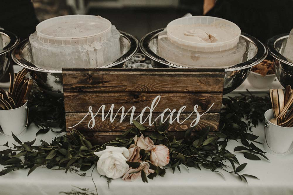A Romantic and Ethereal Celebration in Fort Langley, BC - sign