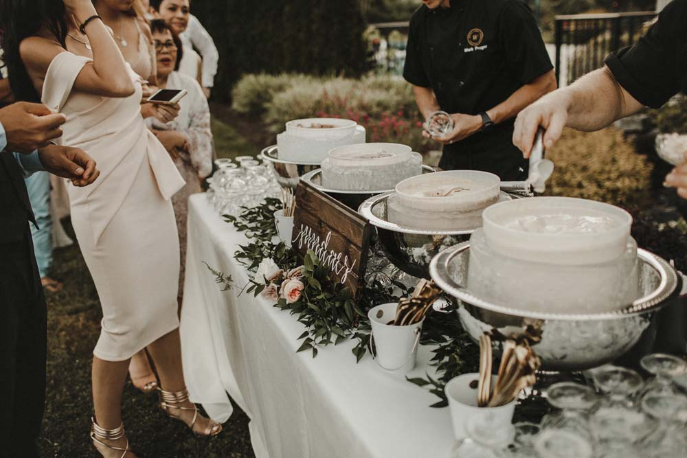 A Romantic and Ethereal Celebration in Fort Langley, BC - ice cream