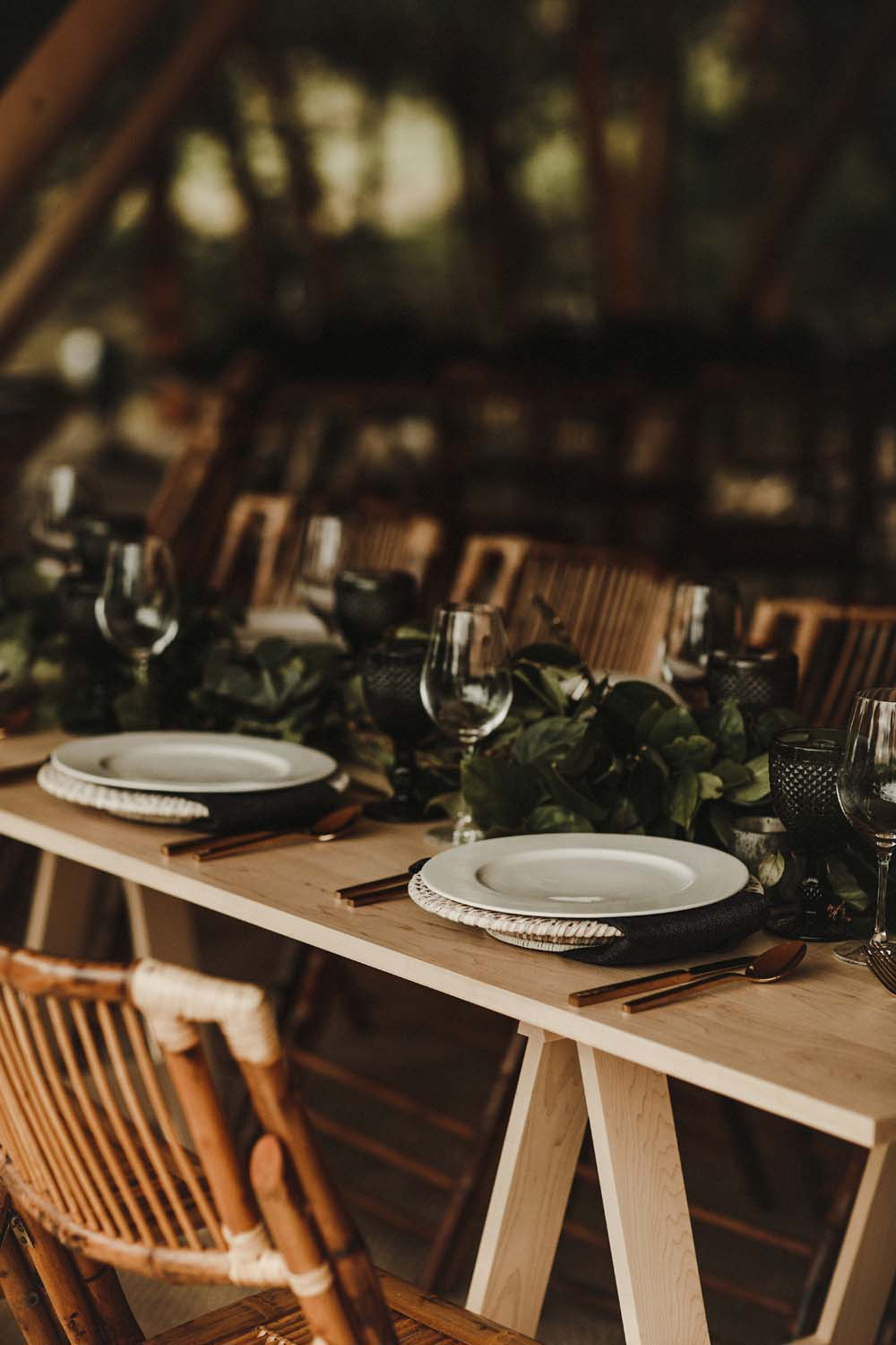 A Scandinavian-Inspired Wedding in British Columbia - Tablescape