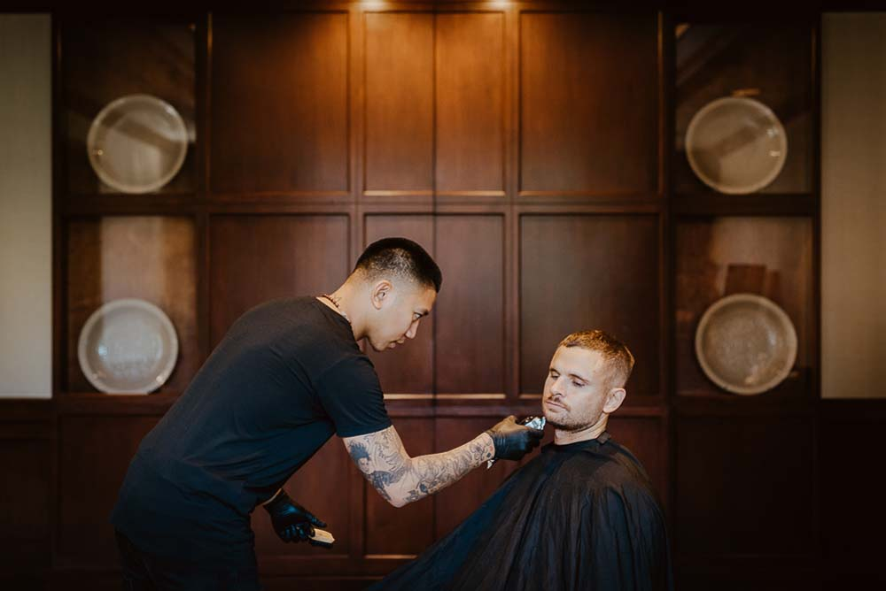An Opulent Wedding At The Royal Conservatory Of Music - Shaving
