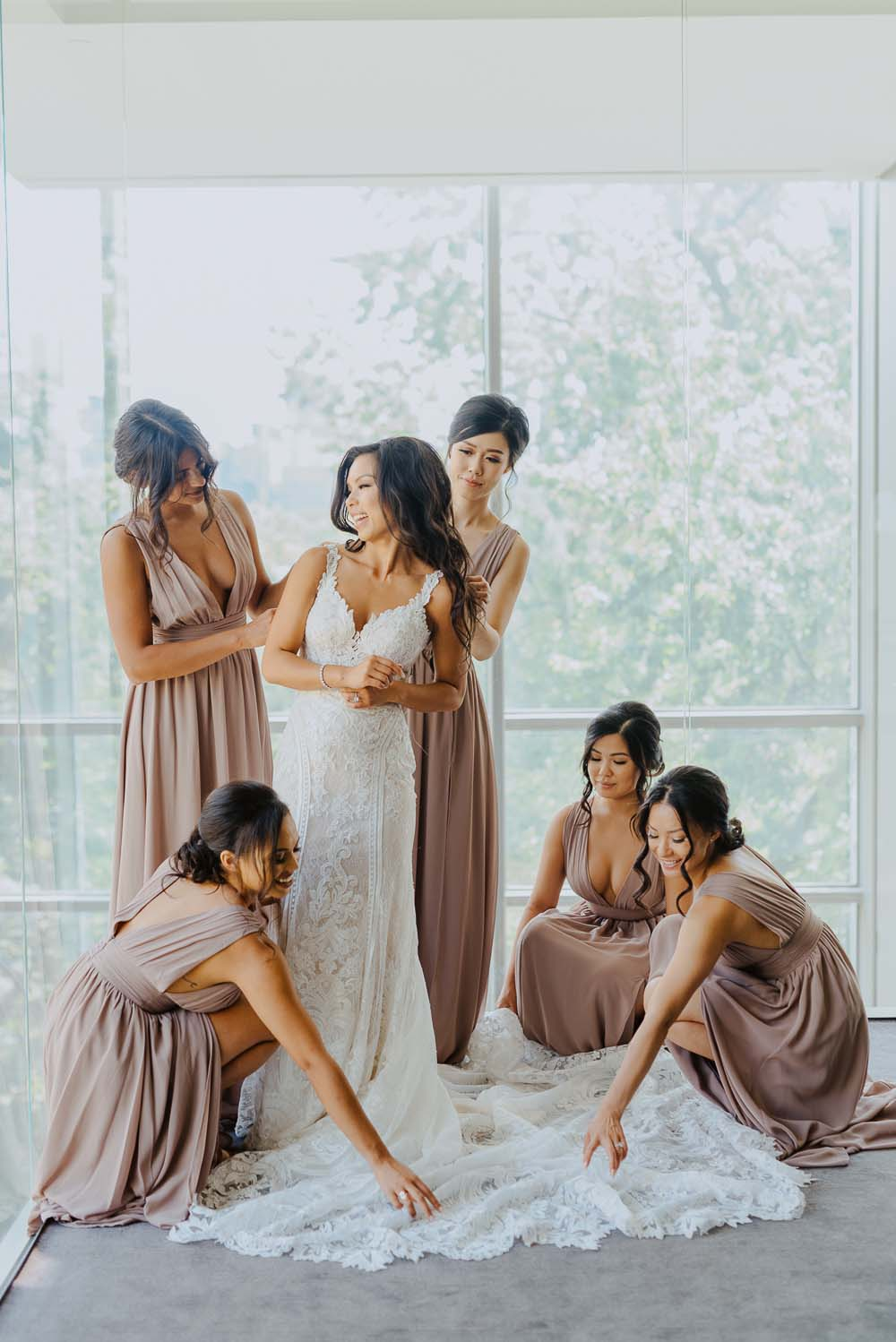 An Opulent Wedding At The Royal Conservatory Of Music - bridal party