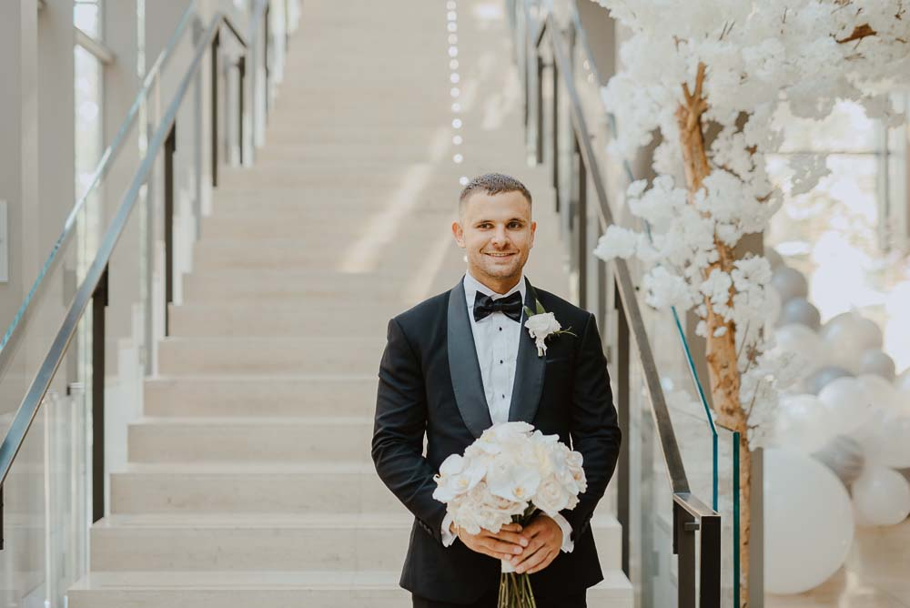 An Opulent Wedding At The Royal Conservatory Of Music - groom