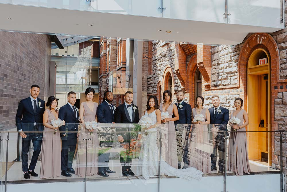 An Opulent Wedding At The Royal Conservatory Of Music - wedding party
