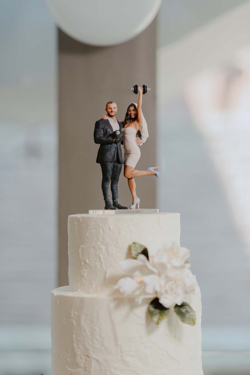 An Opulent Wedding At The Royal Conservatory Of Music - cake topper