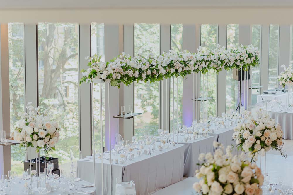 An Opulent Wedding At The Royal Conservatory Of Music - florals