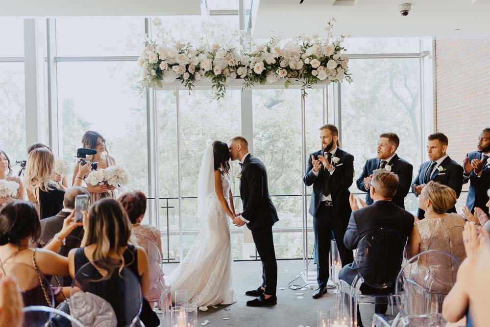 An Opulent Wedding At The Royal Conservatory Of Music - kiss