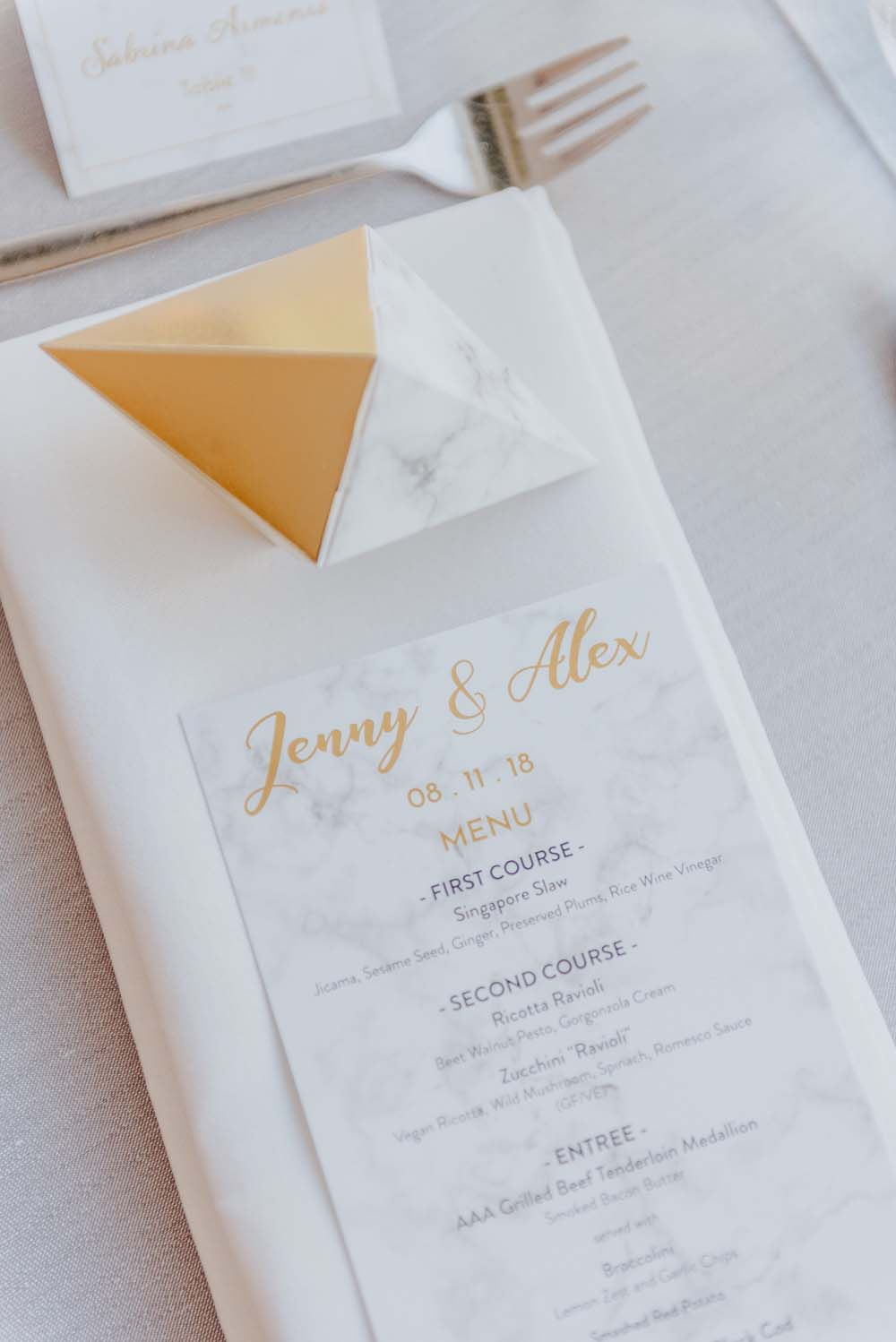 An Opulent Wedding At The Royal Conservatory Of Music - invitations