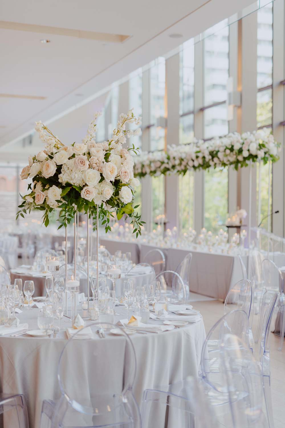 An Opulent Wedding At The Royal Conservatory Of Music - tablescape