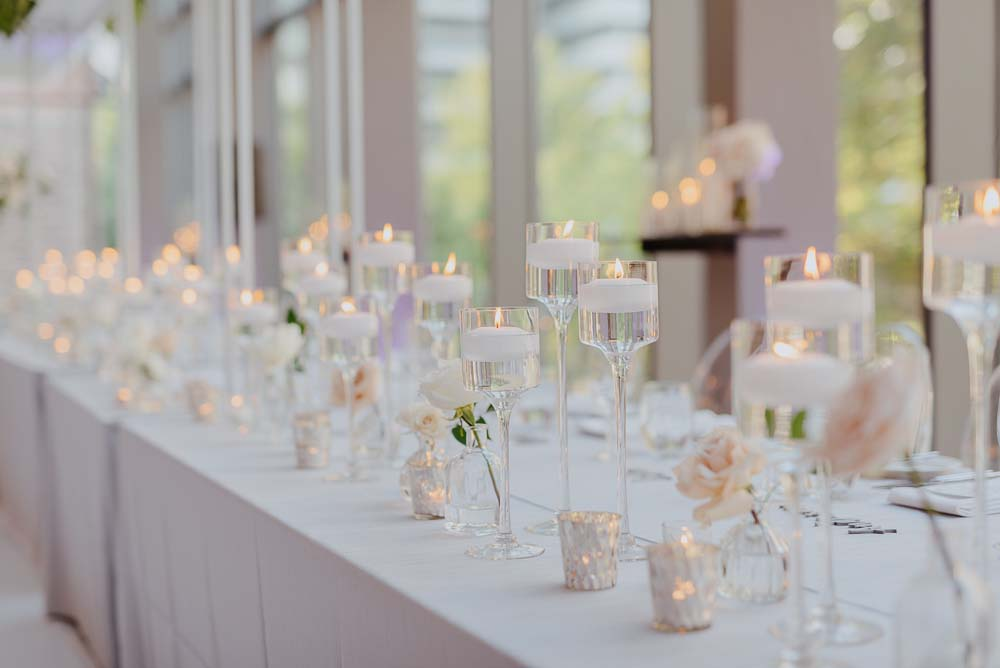 An Opulent Wedding At The Royal Conservatory Of Music - candles