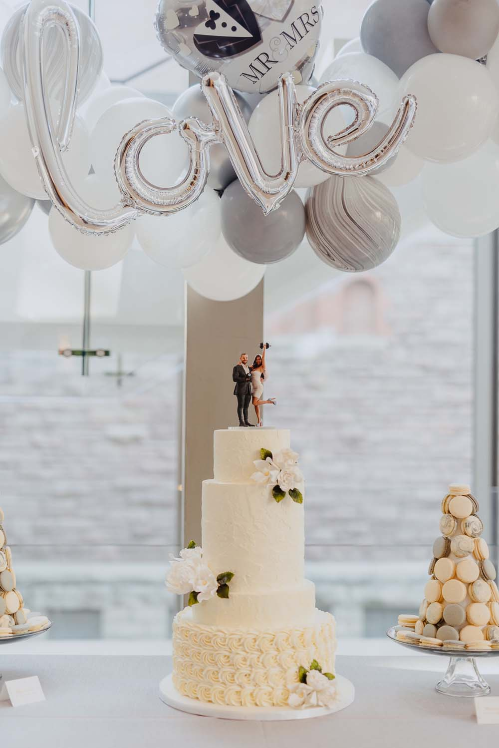 An Opulent Wedding At The Royal Conservatory Of Music - cake