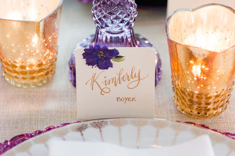 An Ultra Violet-Inspired Styled Shoot In Quebec - Name card
