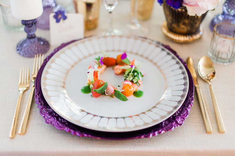 An Ultra Violet-Inspired Styled Shoot In Quebec - Food