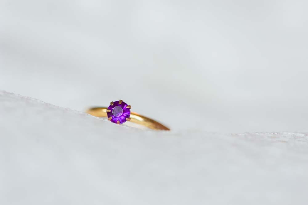 An Ultra Violet-Inspired Styled Shoot In Quebec - Ring