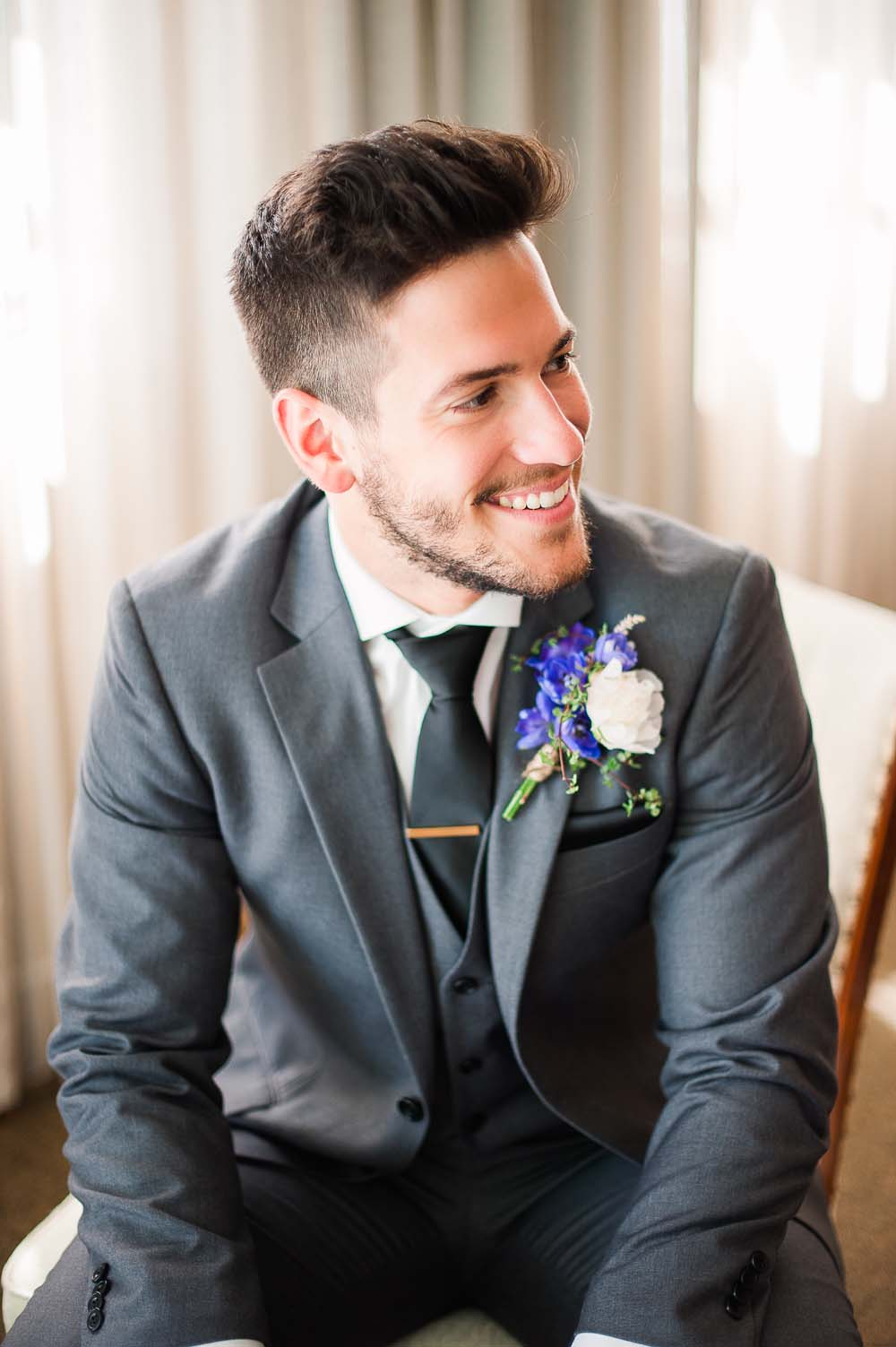 An Ultra Violet-Inspired Styled Shoot In Quebec - Groom
