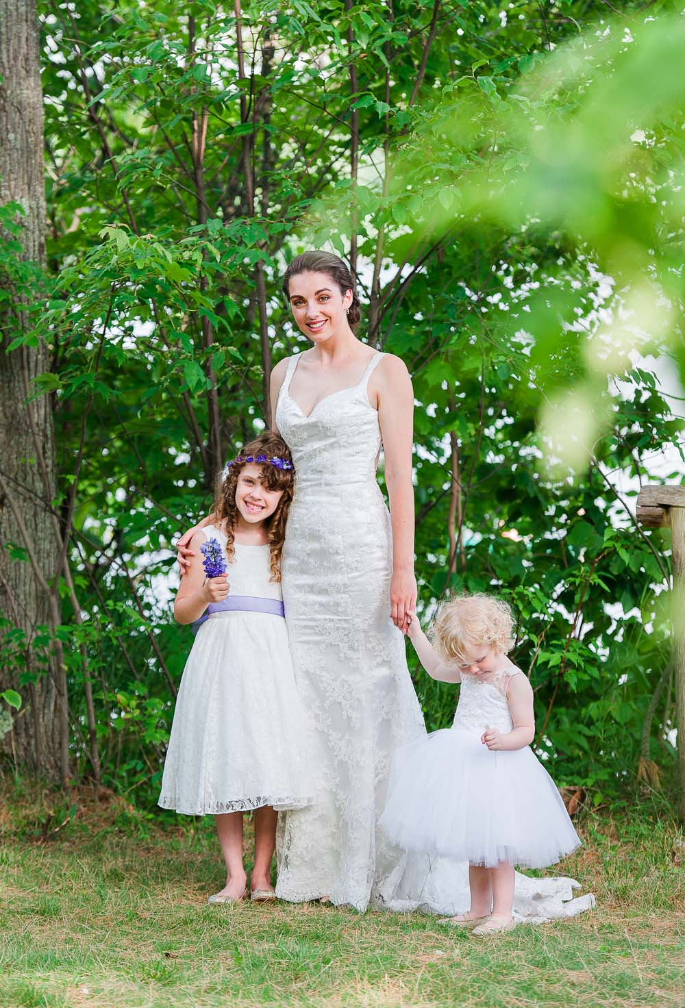 An Ultra Violet-Inspired Styled Shoot In Quebec - Bride and flower girls