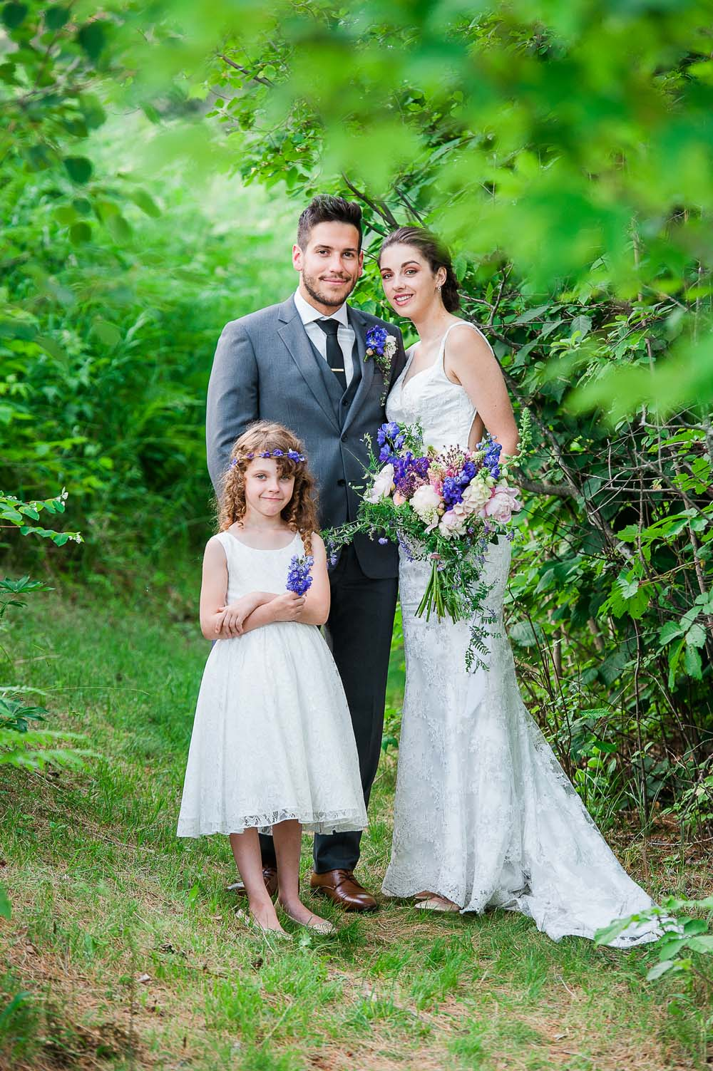 An Ultra Violet-Inspired Styled Shoot In Quebec - Bridal party