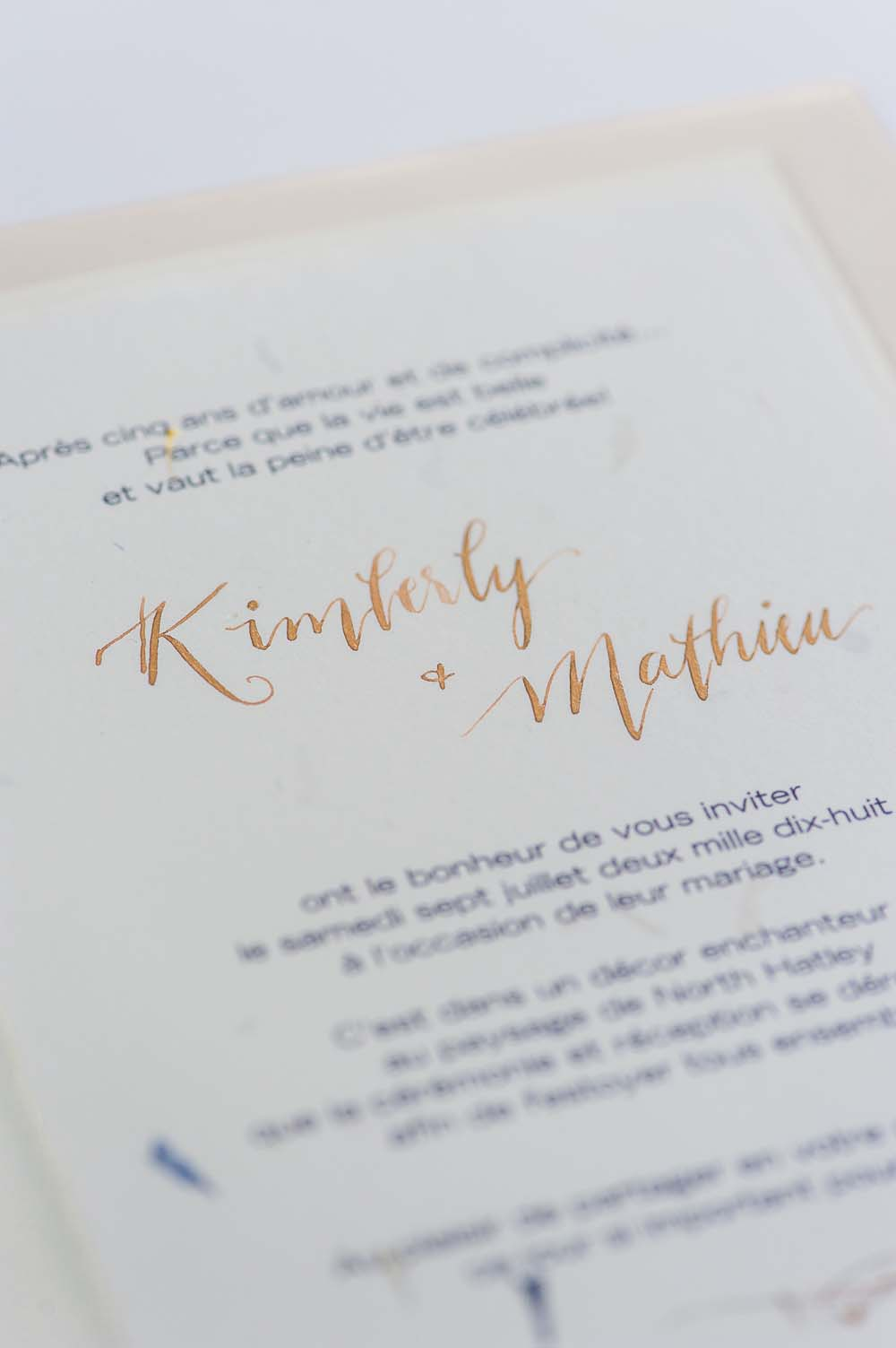 An Ultra Violet-Inspired Styled Shoot In Quebec - Invitation
