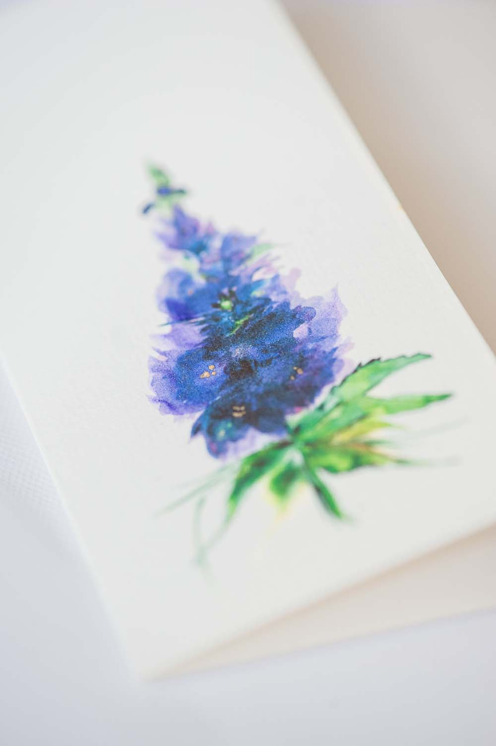 An Ultra Violet-Inspired Styled Shoot In Quebec - watercolour