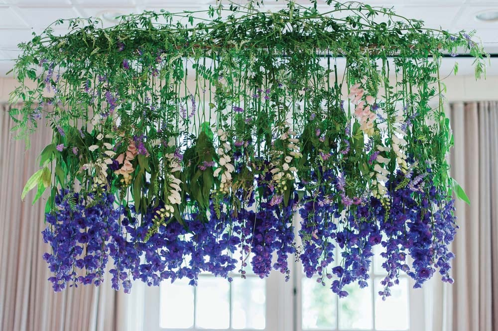 An Ultra Violet-Inspired Styled Shoot In Quebec - flowers