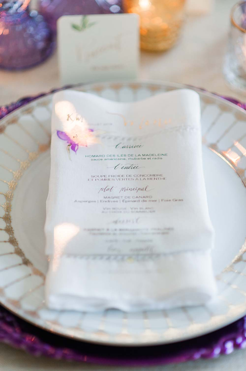 An Ultra Violet-Inspired Styled Shoot In Quebec - menu