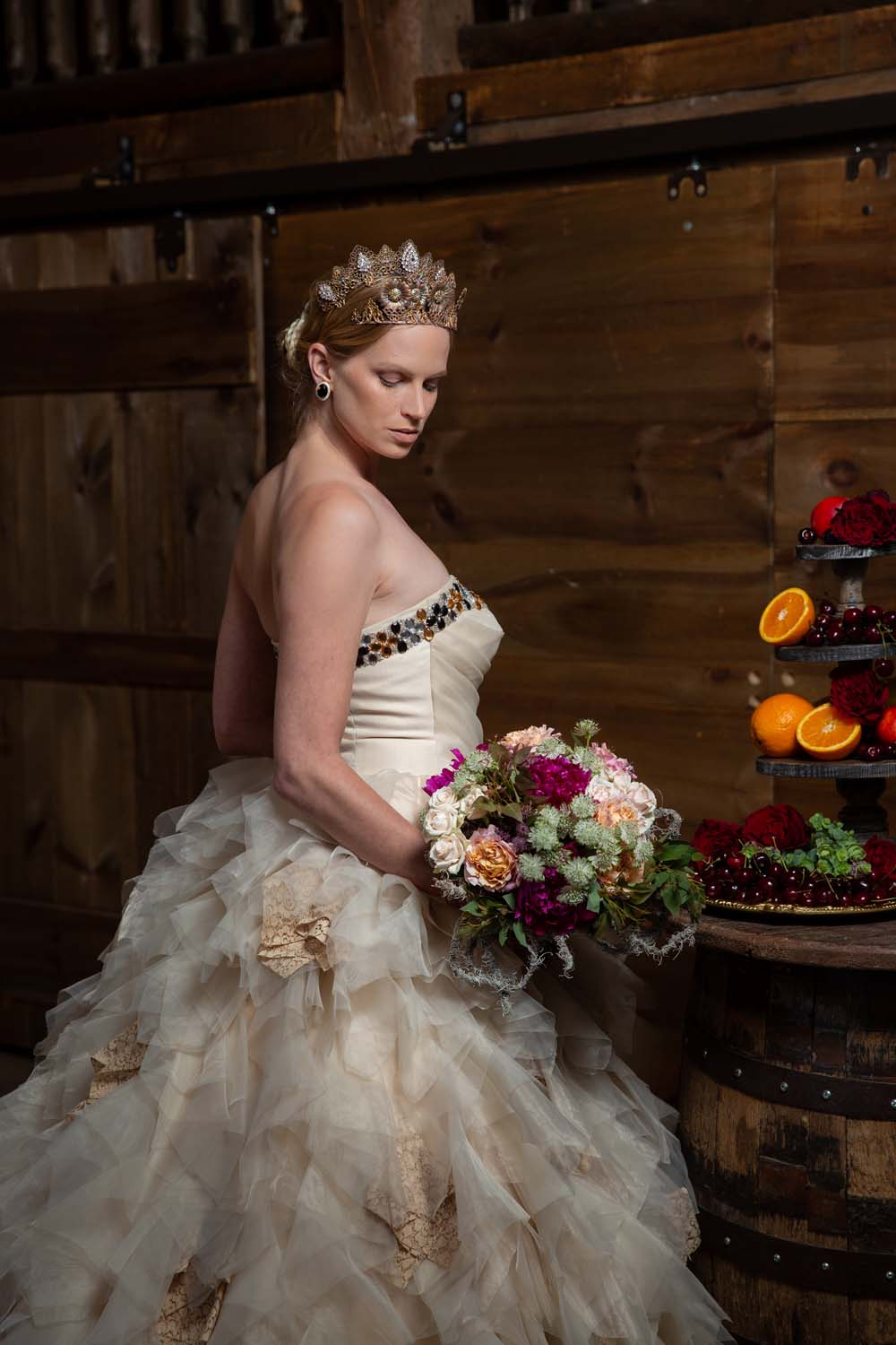 This Styled Shoot Was Inspired By Medieval Royalty - Bride