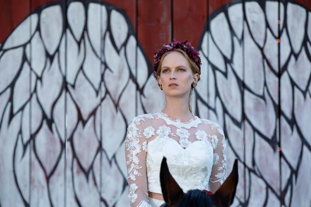 This Styled Shoot Was Inspired By Medieval Royalty - Bride on horse