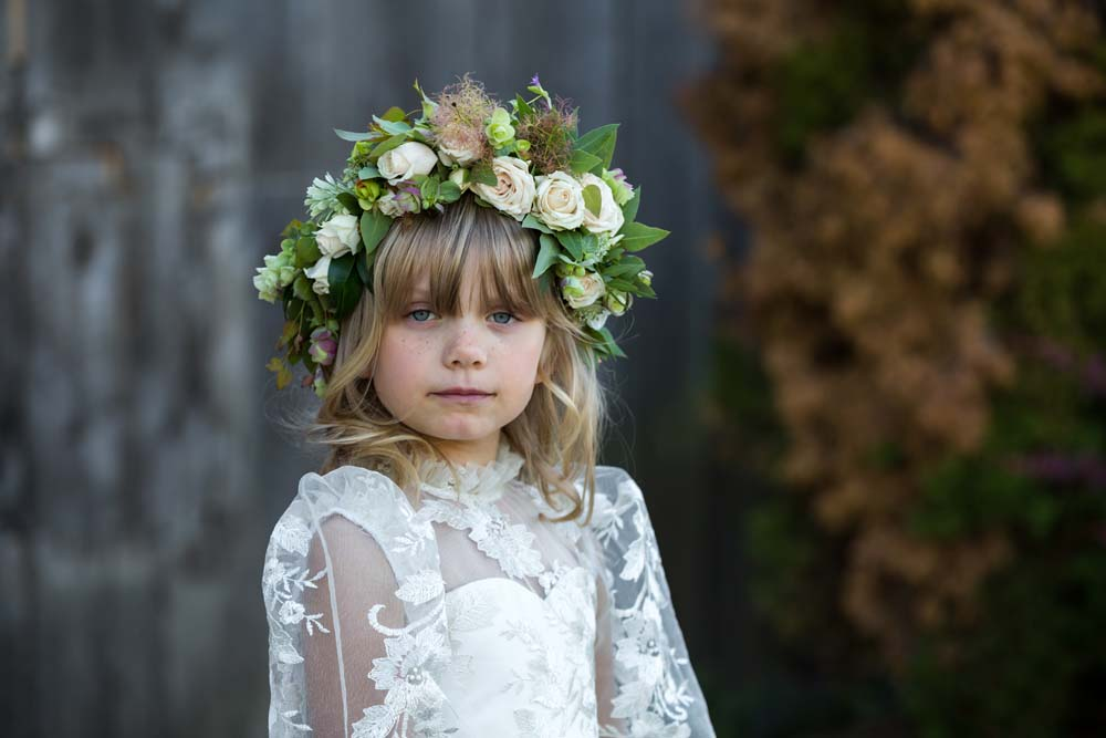 This Styled Shoot Was Inspired By Medieval Royalty - Flower Girl
