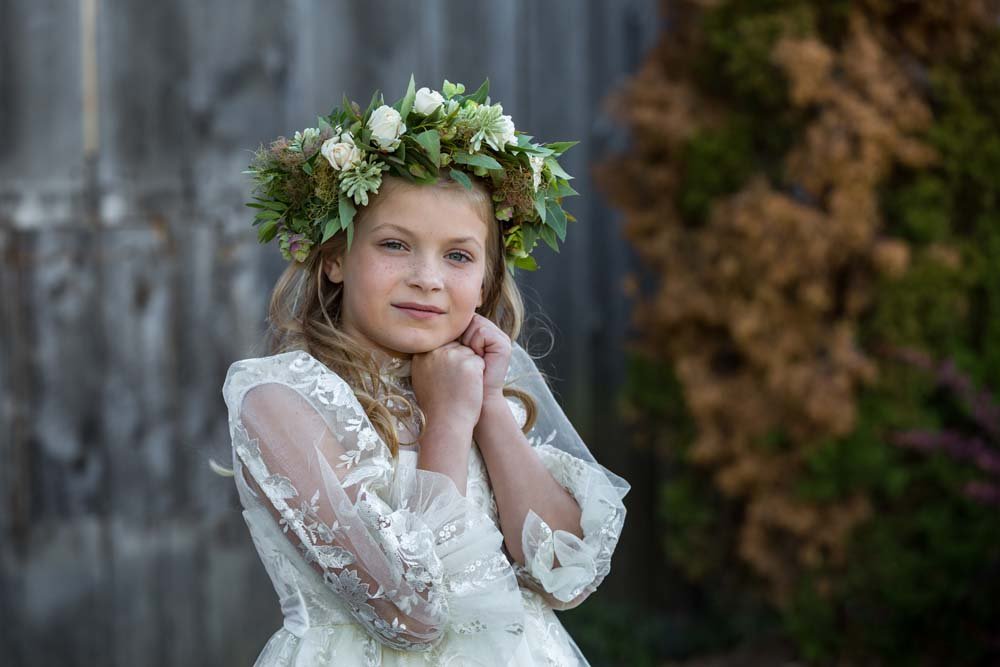 This Styled Shoot Was Inspired By Medieval Royalty - Flower girl.