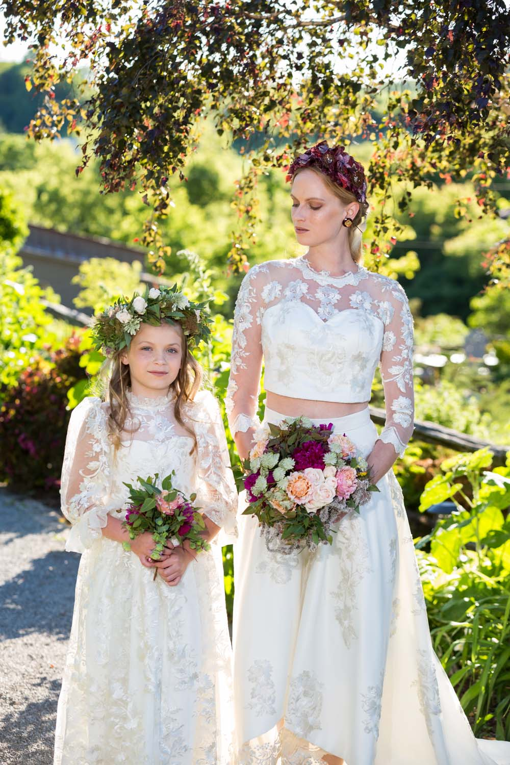 This Styled Shoot Was Inspired By Medieval Royalty - Bride and flower girl
