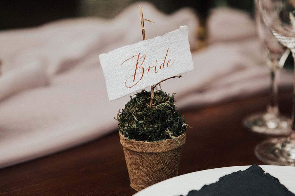 A Dreamy, Intimate Forest Styled Shoot in Waskesiu Lake, Saskatchewan - Place card