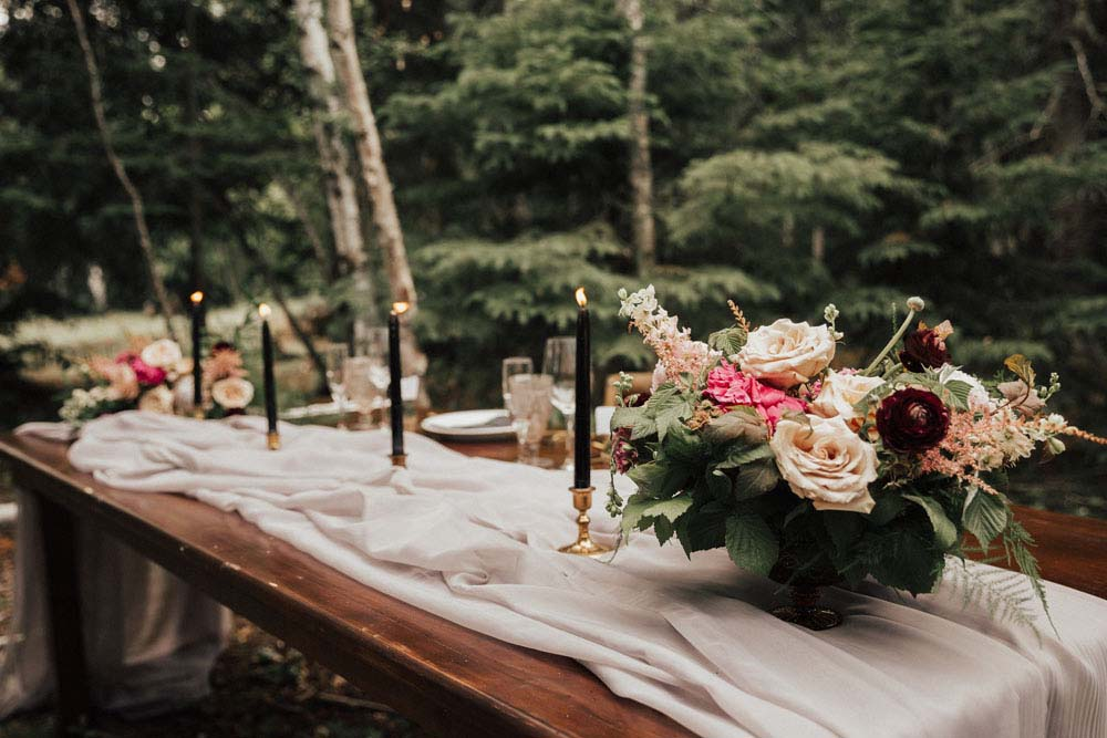 A Dreamy, Intimate Forest Styled Shoot in Waskesiu Lake, Saskatchewan - Table