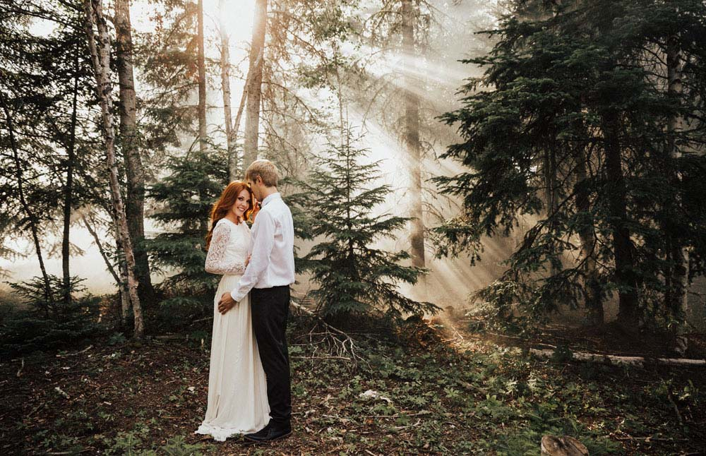 A Dreamy, Intimate Forest Styled Shoot in Waskesiu Lake, Saskatchewan - Forest