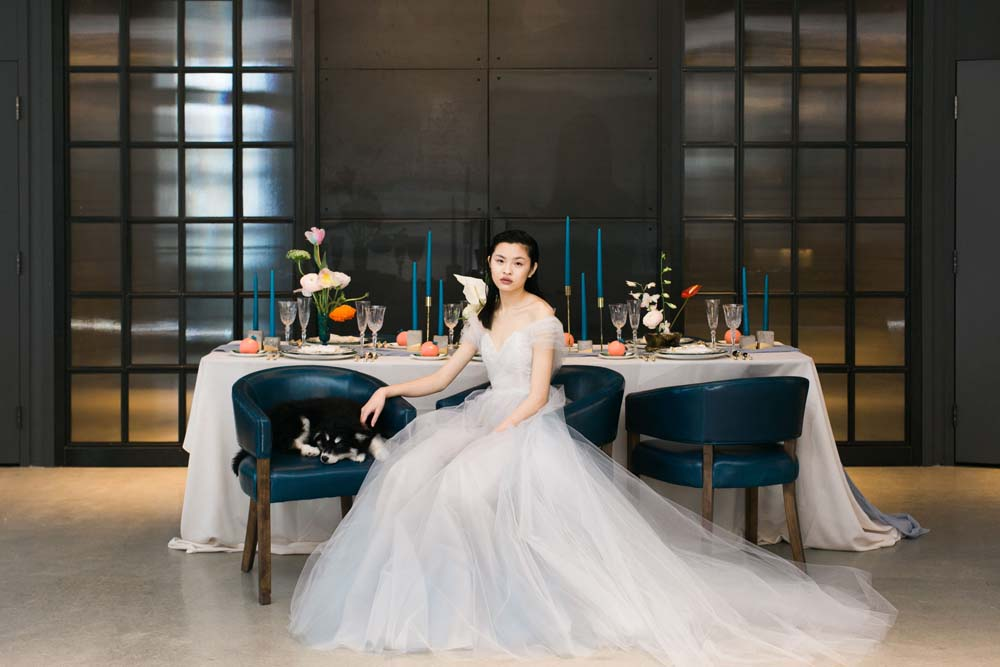 Bride and Table Décor