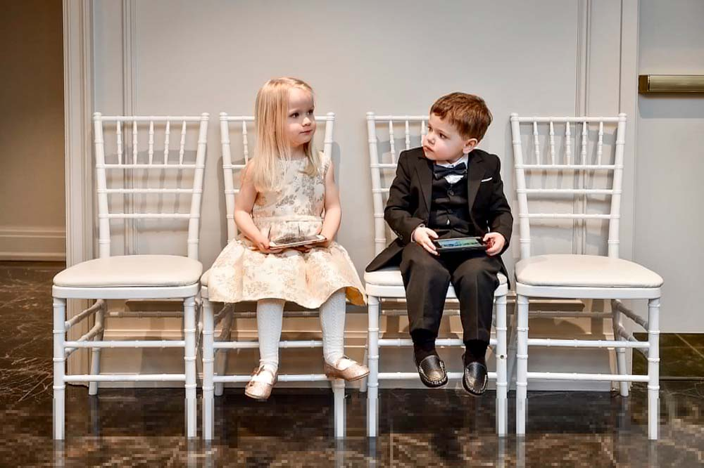 A Fairytale Winter Wedding in Toronto, Ontario - Flower Girl and Ring Boy