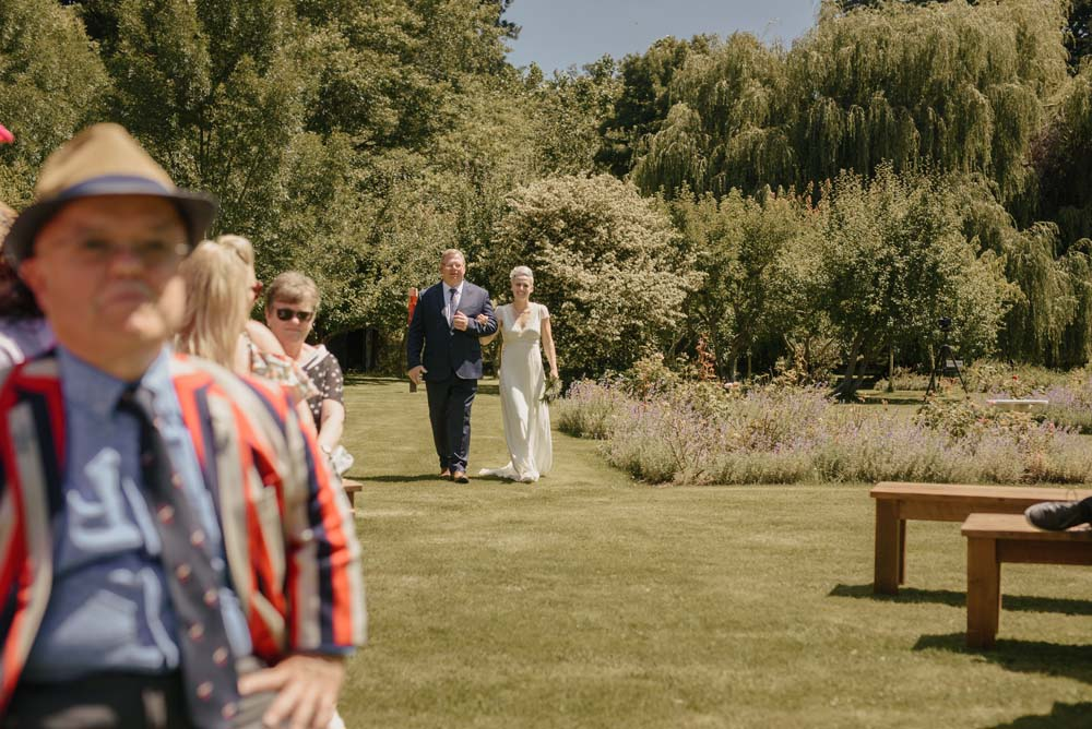 Soccer Player Sophie Schmidt's Rustic Summer Wedding in New Zealand - Father of the Bride
