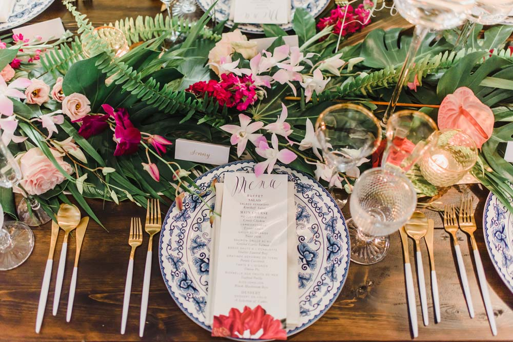A Caribbean-Inspired Summer Wedding in Ottawa, Ontario - Place Setting