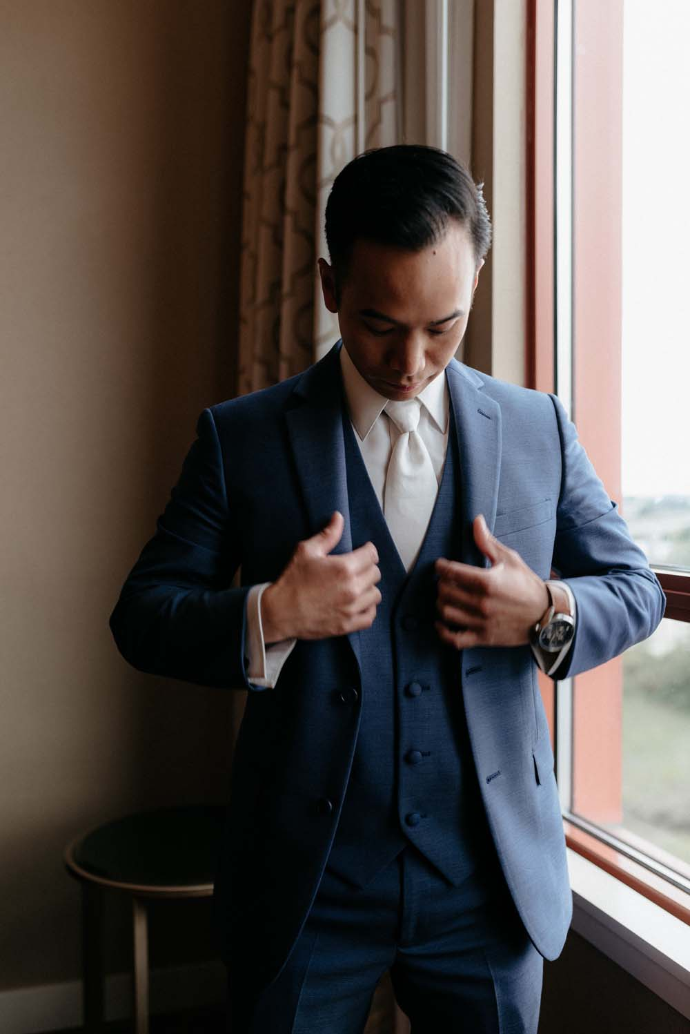 A Multicultural Wedding At The UBC Botanical Garden in Vancouver - groom