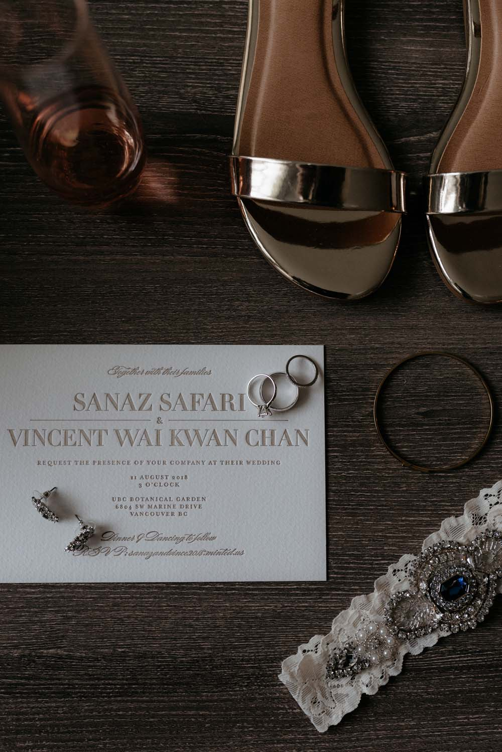 A Multicultural Wedding At The UBC Botanical Garden in Vancouver - invitation