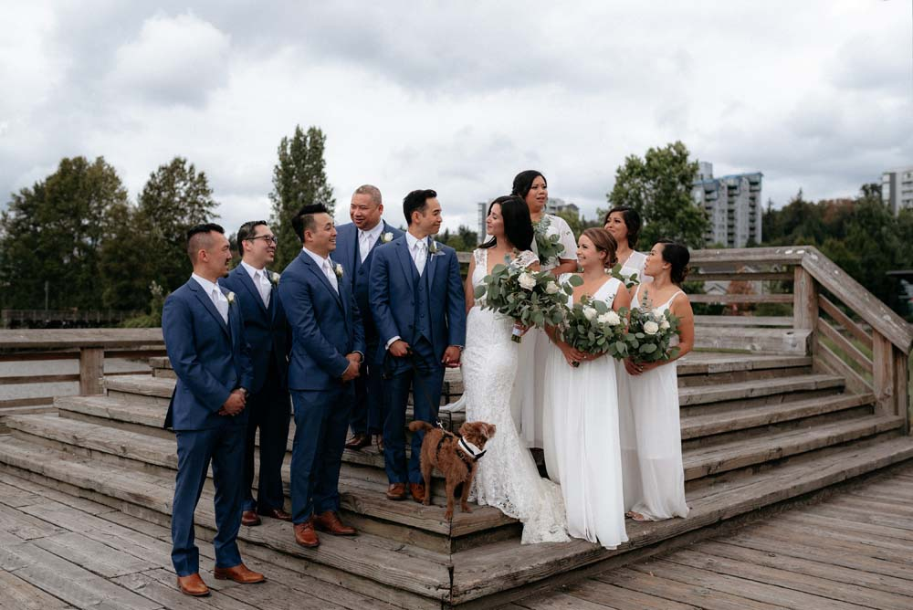 A Multicultural Wedding At The UBC Botanical Garden in Vancouver - bride and groom and wedding party