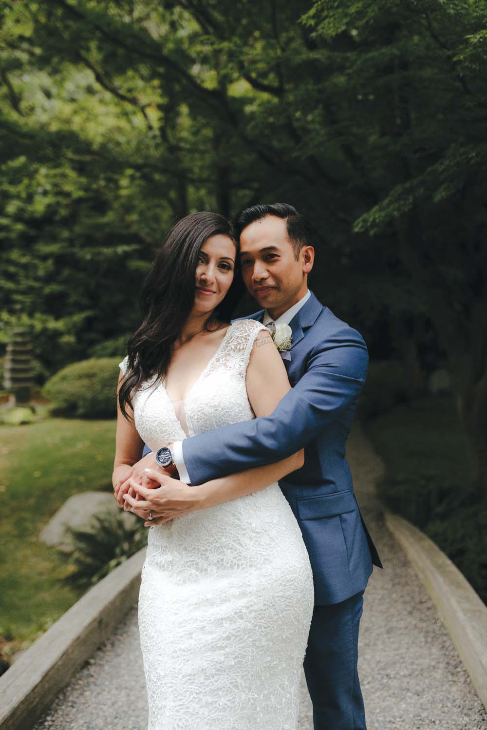 A Multicultural Wedding At The UBC Botanical Garden in Vancouver - bride and groom